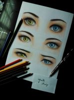 Heterochromatic Eyes by GiselleAFerreira