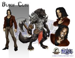 Night Wolf Character Design - Black Claw by RAM-Horn
