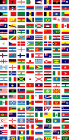 World Flags Large by Aitheras