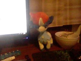 this is my keldeo plushie by kh297sora