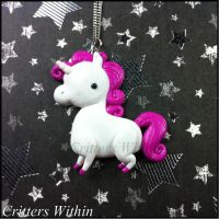 Critters Unicorn Pendant by Lunnie