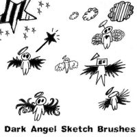 Dark Angel Sketch Brushes by Red--Roses