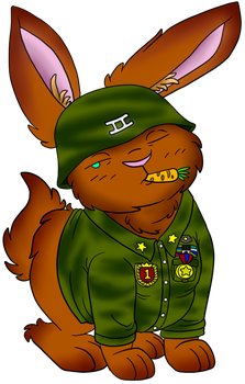 Sergeant Fluff Butt by VonHartherzig
