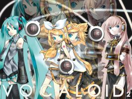Vocaloid 2 Wall by Rikulaw