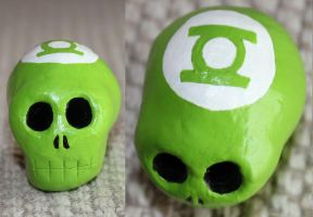Green Lantern Skull 9 SOLD by angelacapel