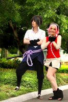 Sasuke and Sakura by haraju2girls