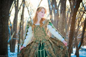 Green Gown V by esophia