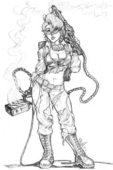 Ghostbusters: Janine Commish 3 by CdubbArt