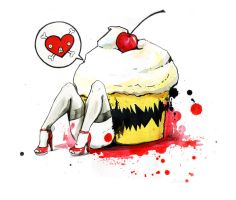 KILLER CUPCAKE by lora-zombie