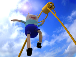 Adventure Time 3d by Mainerva