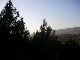 A sunset in Ziarat by MehreenFreed