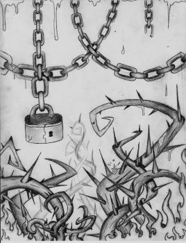 Chains, thorns, and fire by THEKIDWITHAKNIFE