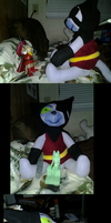-COMMISSIONED-Puss 'N Boots: Cat Killer Boss Plush by spyroid101