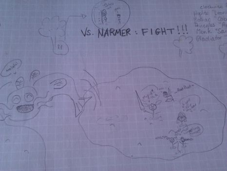 narmer fihgt by a-map