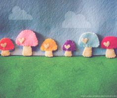 Felt Forest 2 by hellohappycrafts