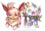 PMD - Eevee and Shinx by ManiacalMew