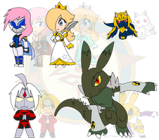 Assorted Chibis - AU Toku-ificiation by Dragon-FangX