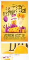 Birthday Party Invitation Flyer by saltshaker911