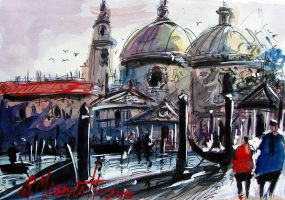 Veneza watercolour by ricardomassucatto