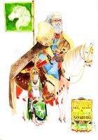 Theoden and Merry by faQy