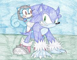 Kida and Sonic the Werehog by sammychan816