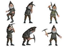 Gnomes PNG Stock by Roys-Art