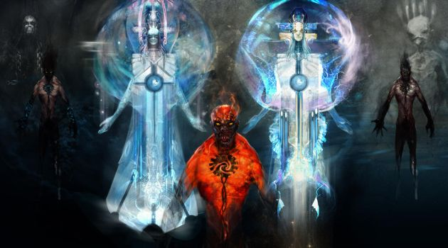 sentinels and demon by MegSer