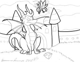 Free to Color: Spyro n Sparx by Wyndon-Torque