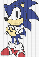 Sonic The Hedgehog Cross Stitch Pattern by RawrrThePeowPeow