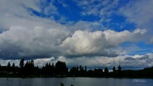 Brooding Clouds Vernonia Lake by JMPorter