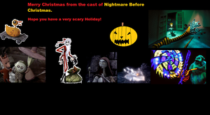 Nightmare Before Christmas,Christmas Card. by Smurfette123