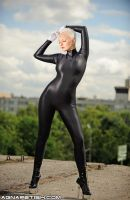 Black Spandex Catsuit 05 by AgnaDevi