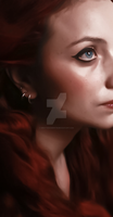 Keep Dreaming (Side of the Face Detail) by WRottenCherryW