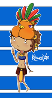 Kitsunexen Aztec Chibi Commission by JustCallMeFade