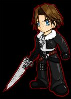 +FINAL FANTASY 8+Chibi Squall by AtsuiChokoreto
