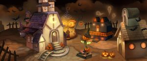 Gaia Halloween Town by ethe
