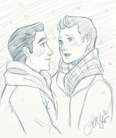 Klaine - White Christmas by OukaWolf46