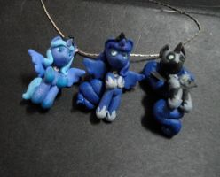 My three little night-licorns by TheMidnightRainstorm