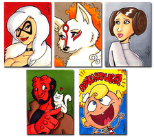 Comics for Cures sketch cards by dsoloud