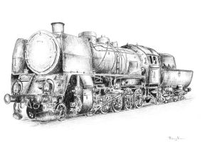 Steam locomotive Ty45 by czajka