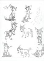 Fennec Fox Practice by dRaWiNgWiThHeArT