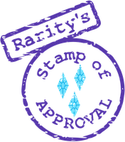 Rarity's Stamp of Approval SVG by tiwake