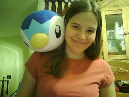 Big Piplup on my shoulder by Trissacar