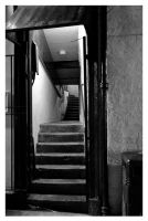 winding pub stairs by Chris-Brown