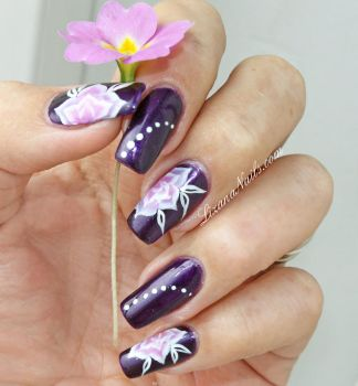 Nail Art One Stroke floral by Lizananails