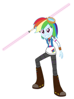 Jedi Guardian Rainbow Dash by Amante56