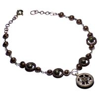 Steampunk Necklace O by CatherinetteRings