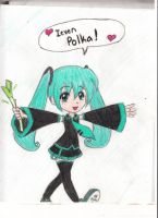 Hatsune Miku colored version by sexyhanyou