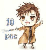 10th Doctor Who chibi by Snoffi2012