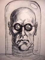 Mr. Freeze (pen sketch) by myconius